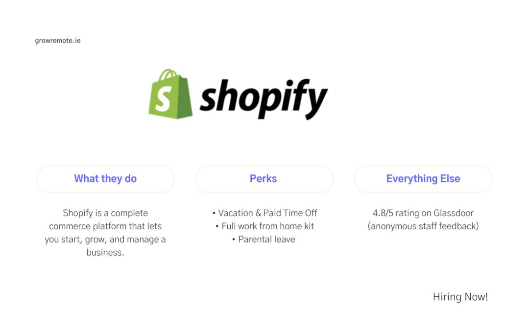 Remote Jobs Ireland – Shopify